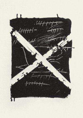 """TAPIES- Litografia numerada y firmada """"Llambrec 8"""""""